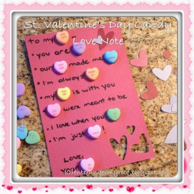 ACTIVITY: Candy Valentines and Love Notes for Your Valentine!