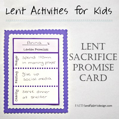 ACTIVITY: Lent Promise Card for Families (free printable)
