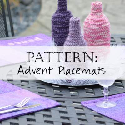 Pattern: Advent Table Runner & Placemats