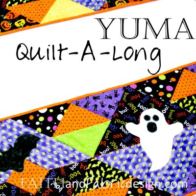 QAL: Yuma Halloween Table Runner with Pumpkin Quilting and Applique