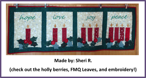 Faith and Fabric - Catholic Advent Quilt made by Sheri R
