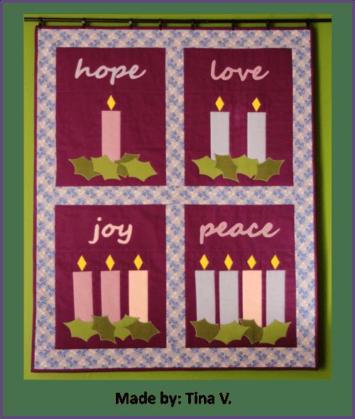 Faith and Fabric - Catholic Advent Quilt made by Tina V