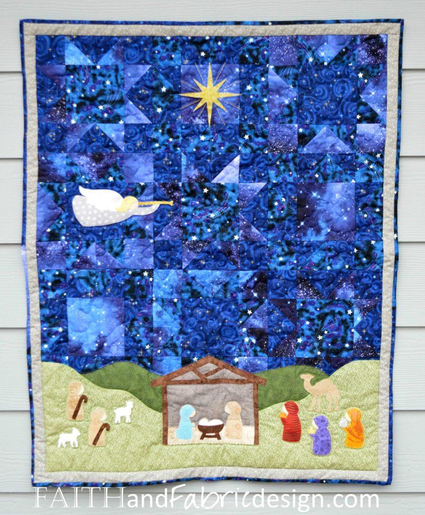 Silent Night Nativity Christmas Quilt Pattern 1