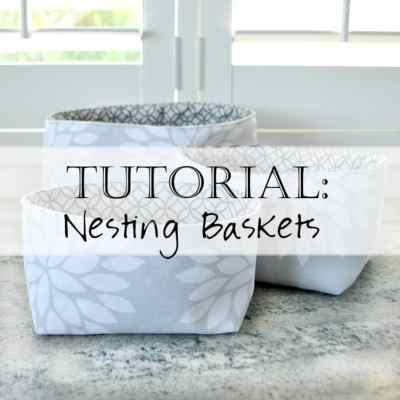 Tutorial: Sewing Square Nesting Baskets Pattern