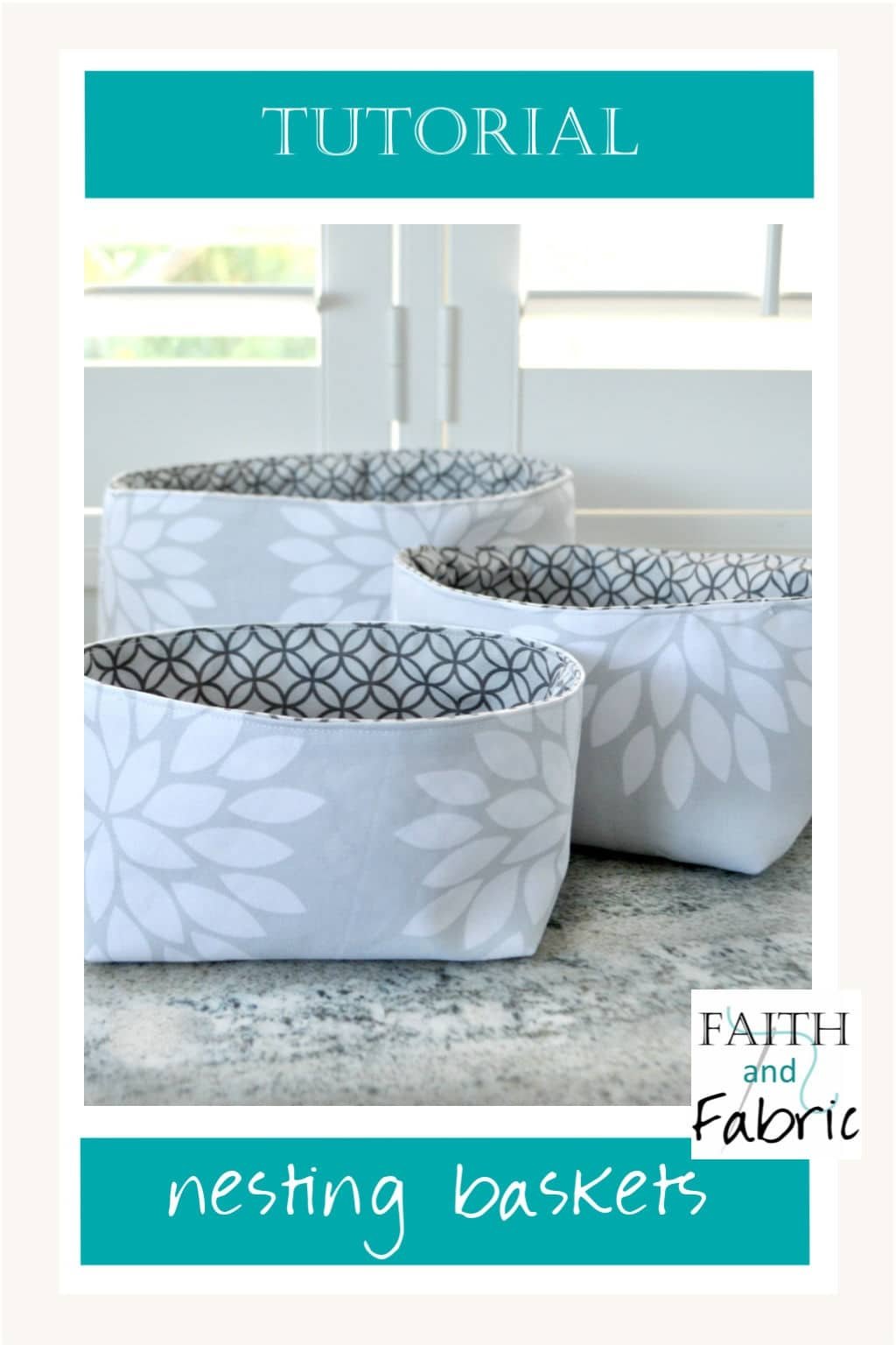 This three piece nesting basket set is a great sewing project for beginners and advanced sewists. You'll love the flexibility in their design!
