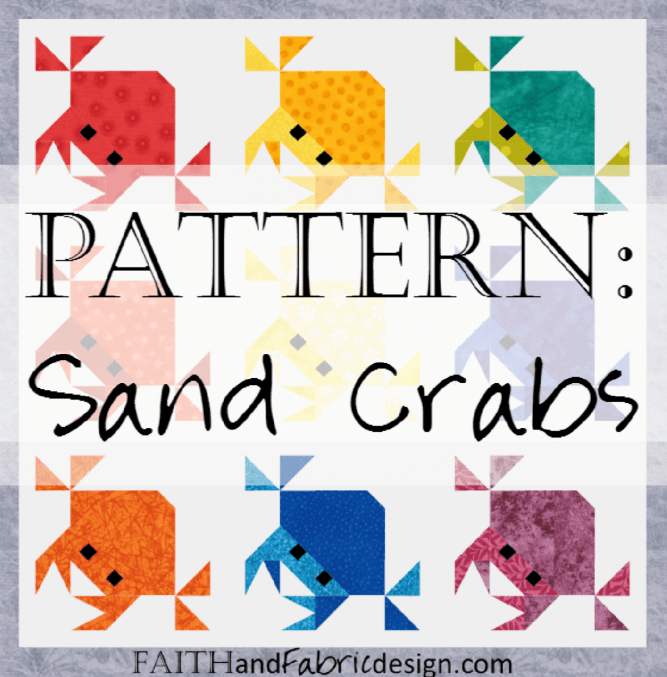 Crab Quilt Pattern by Faith and Fabric