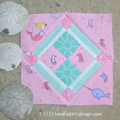 Under the Sea: Farmer's Wife Block 52 Lola