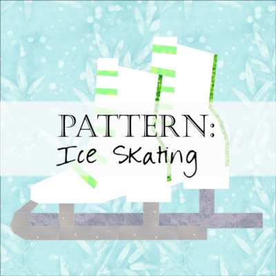 Quilt Block: Ice Skates / Ice Hockey Skating