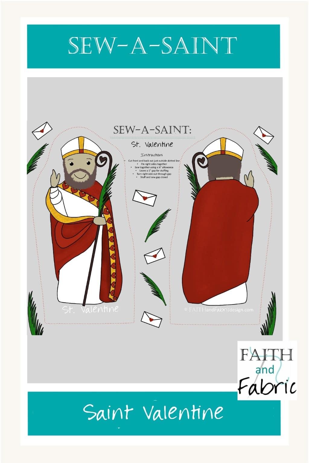 Sew What St Paul : Sew-a-Saint, Saint, Valentine, Faith, Fabric