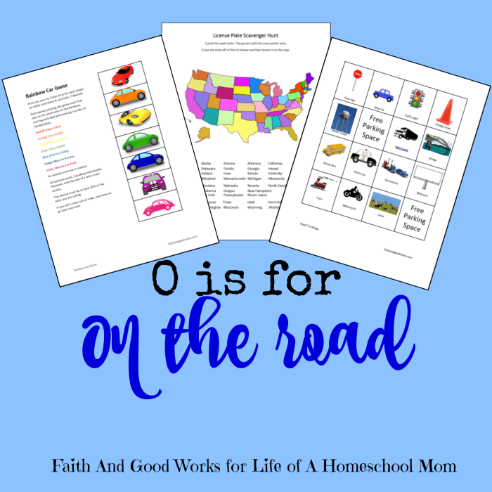 O is for On the Road