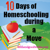 Homeschooling During a Move – A 10 Day Series