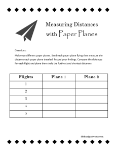measuring distance with paper planes