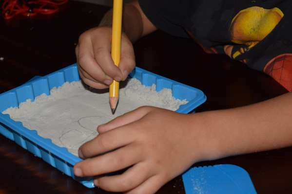 letter writing in magic sand