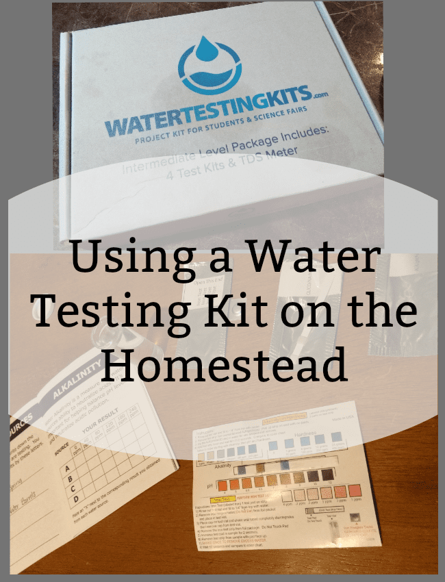 Using a Water Testing Kit on the Homestead