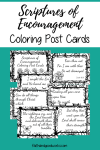 Scriptures of Encouragement Coloring Postcards