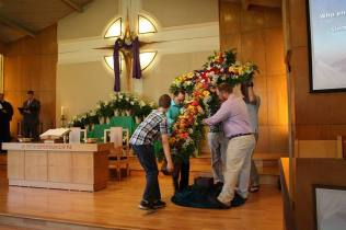 Placing the Cross on the Chancel