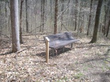 Park benches scattered throughout the trail to give hikers a rest