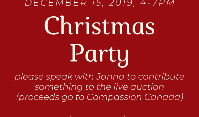 Christmas Party, December 15, 2019