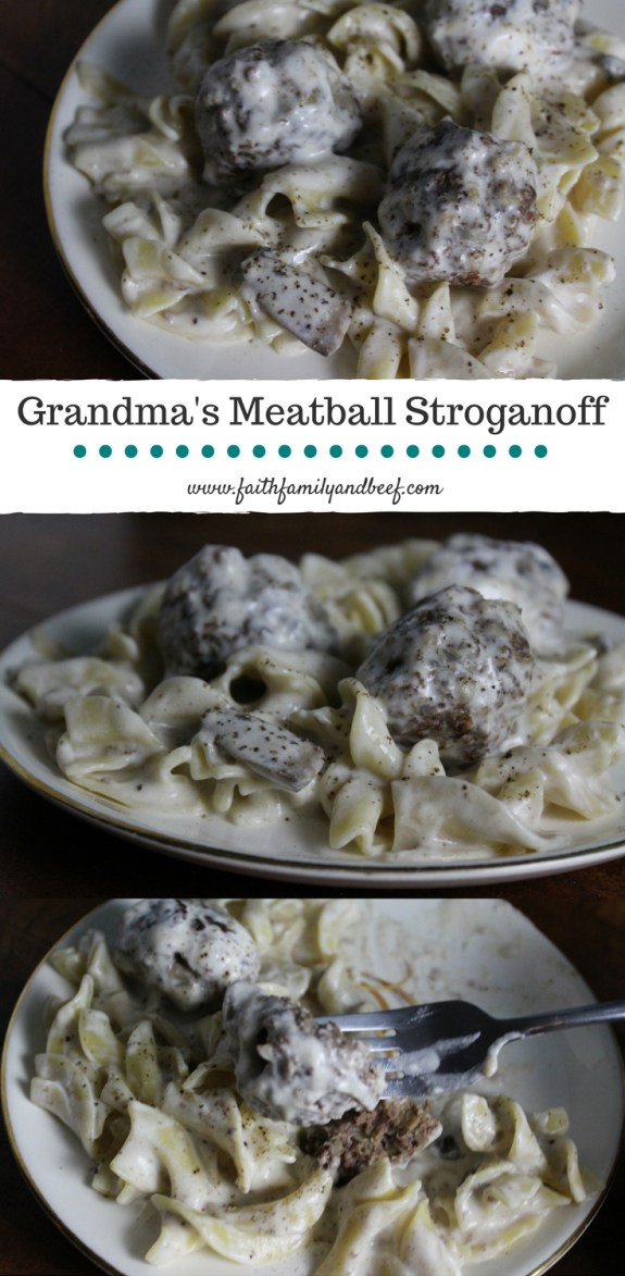 Grandma's Meatball Stroganoff - This simple, yet delicious, meal takes me back to my youth via my taste buds. It's definitely my idea of comfort food!