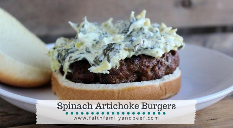 Spinach Artichoke Burgers