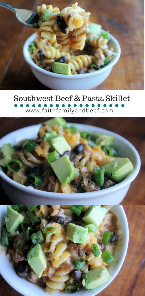 Southwest Beef & Pasta Skillet - A one pot supper solution that's sure to satisfy.