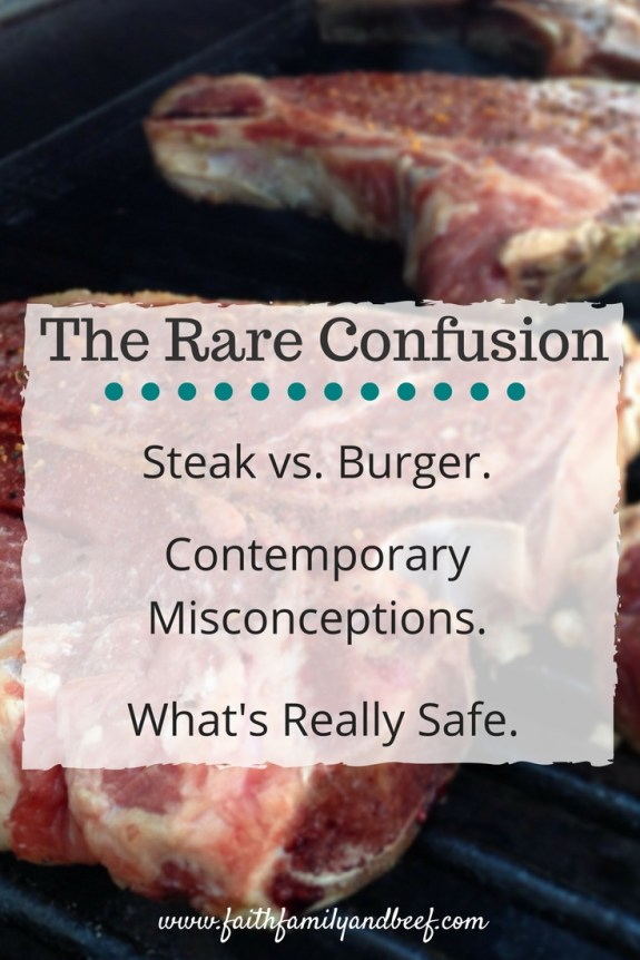 The Rare Confusion - Steak vs. Burger. Contemporary Misconceptions. And, What's Really Safe.