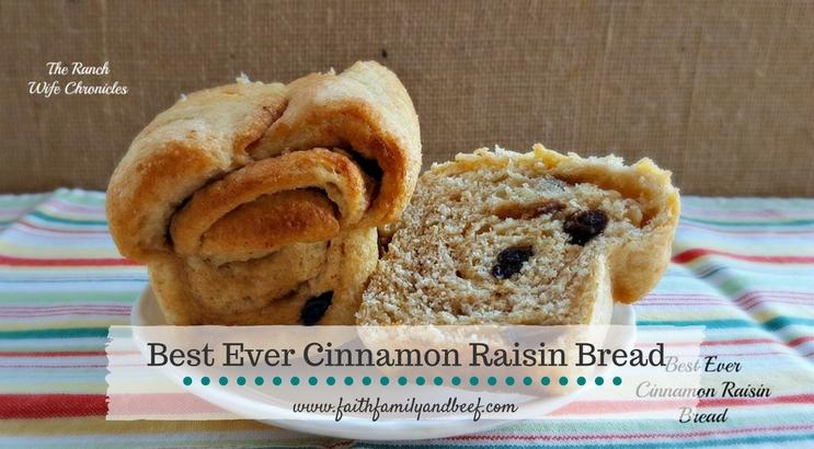 Best Ever Cinnamon Raisin Bread