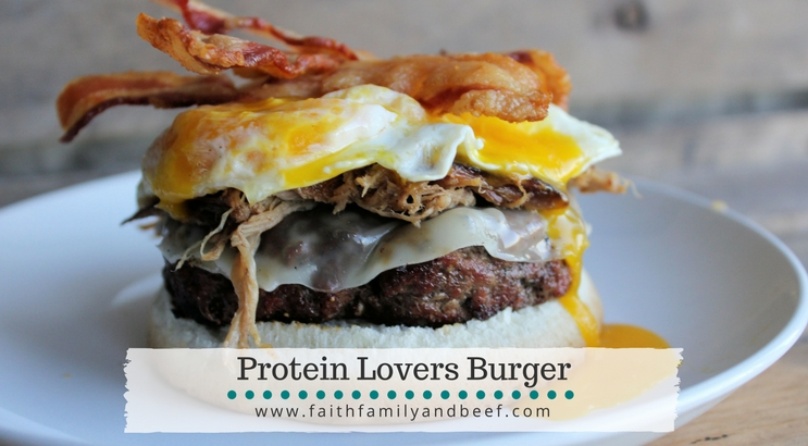 Protein Lovers Burger - protein packed may be an understatement for this burger!
