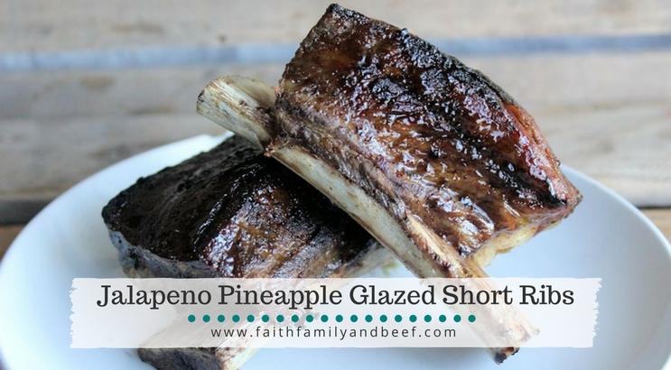 Jalapeno Pineapple Glazed Short Ribs