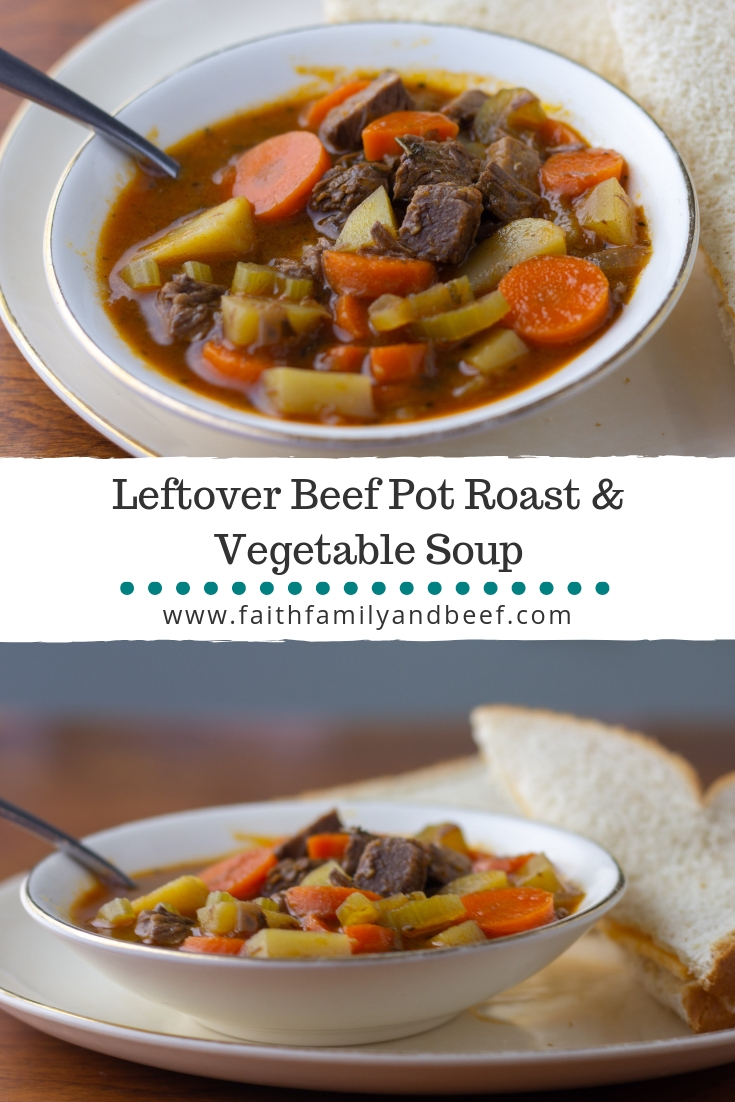 How to cook a roasted for vegetables beef soup from leftovers