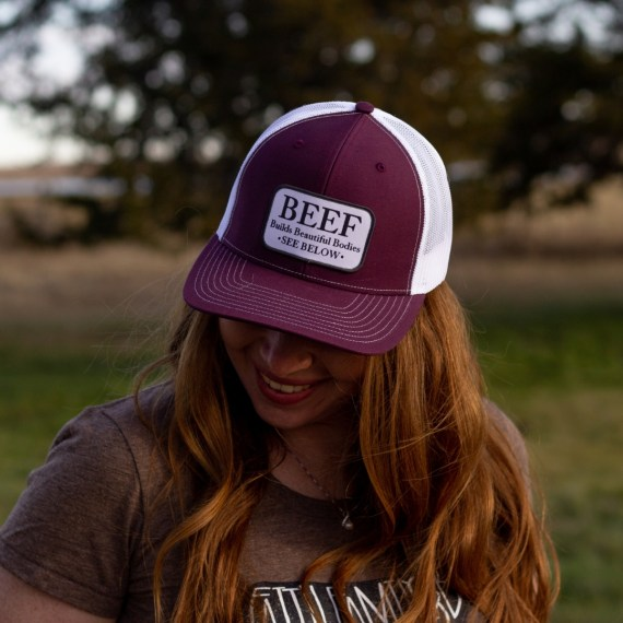 Maroon Beef Builds Beautiful Bodies Hat