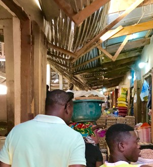Indoor market for some peanuts