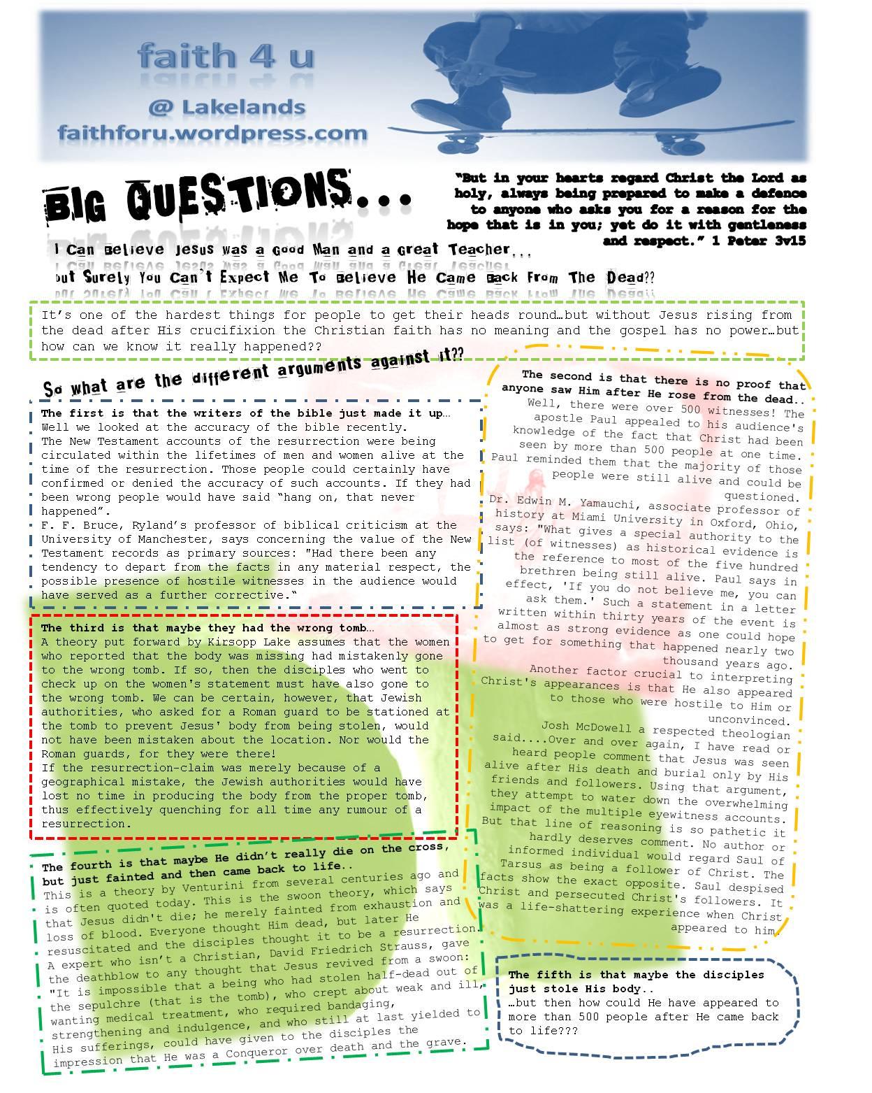 Faith Club Lakelands Worksheets