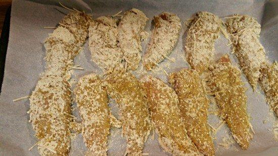 Gluten Free Chicken Tender Prep