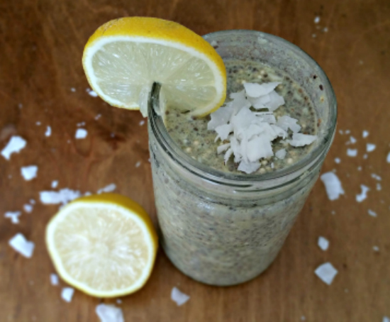Lemon Coconut Protein Chia Pudding