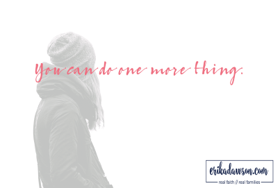 you can do one more thing by erika dawson at erikadawson.com