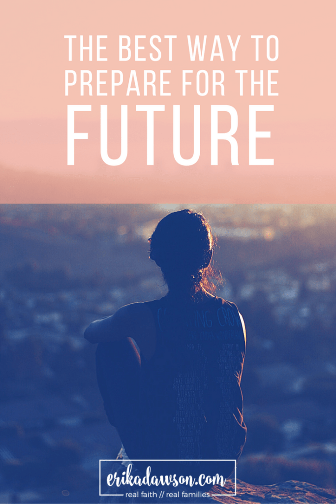 such great advice about how to prepare for the future