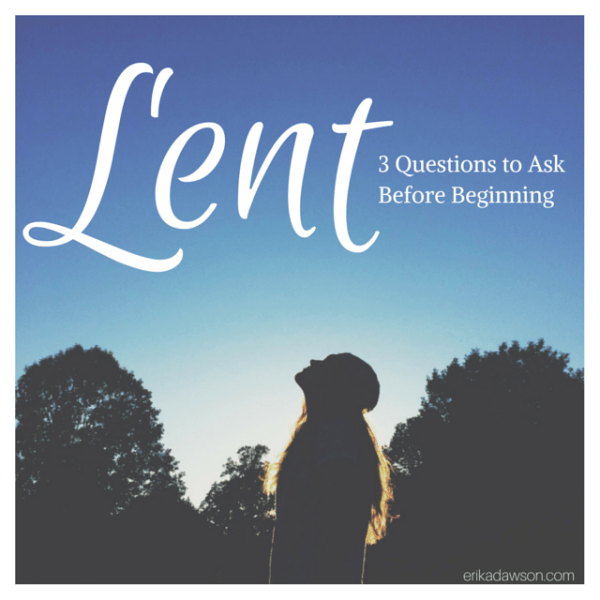 Such great perspective for Lent!