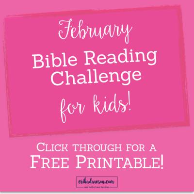Free Bible reading plan printable for KIDS