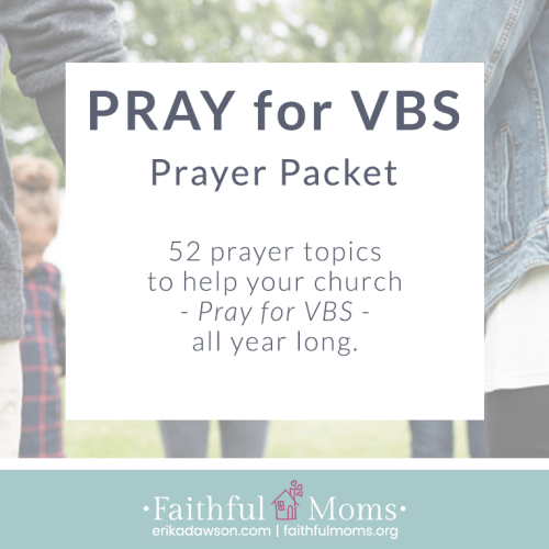 we LOVE this resource to help our church PRAY for VBS!!!