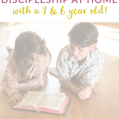 great ideas for how to disciple 6 & 9 year old siblings
