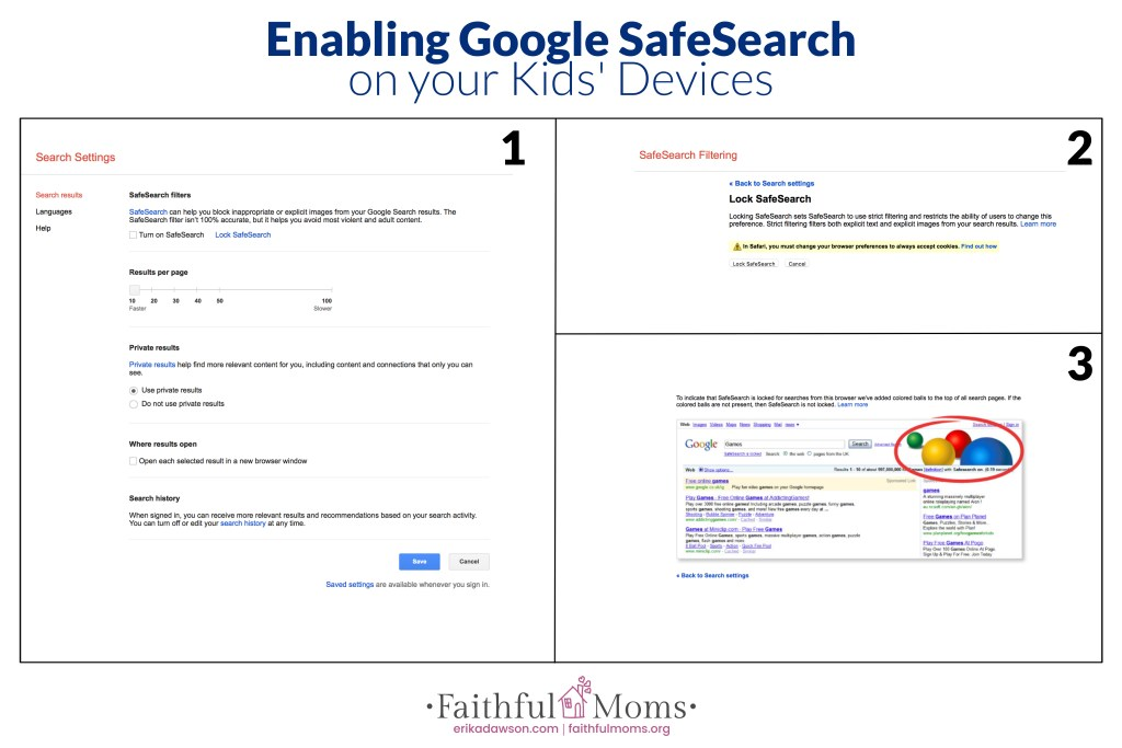 how to change safe search on google