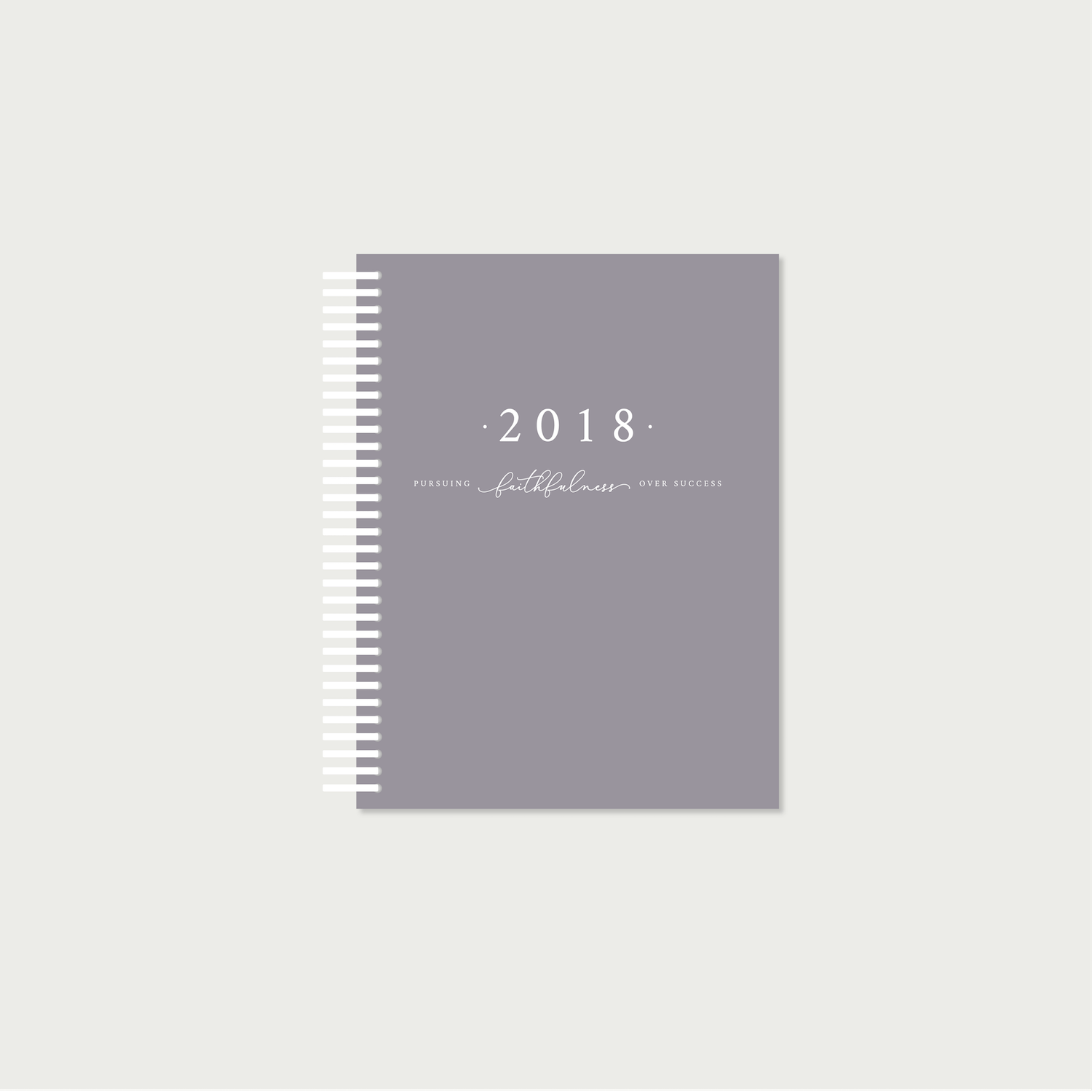 Faithful Life Planner cover mockup of the PLUM
