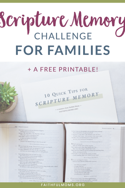 Join our Scripture Memory Challenge for Families to help you hide God's Word in the hearts of your kids and family!!!