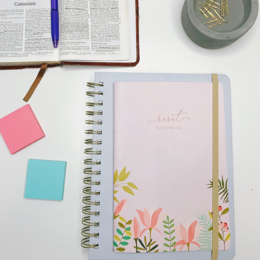 Reset Notebook!! Love this to help reset each quarter as I set goals + intentions