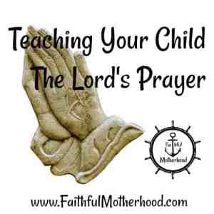 Lords Prayer Stone Hands Teach Your Child The