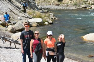 Our hike below the falls is one of the must do activities in Yellowstone