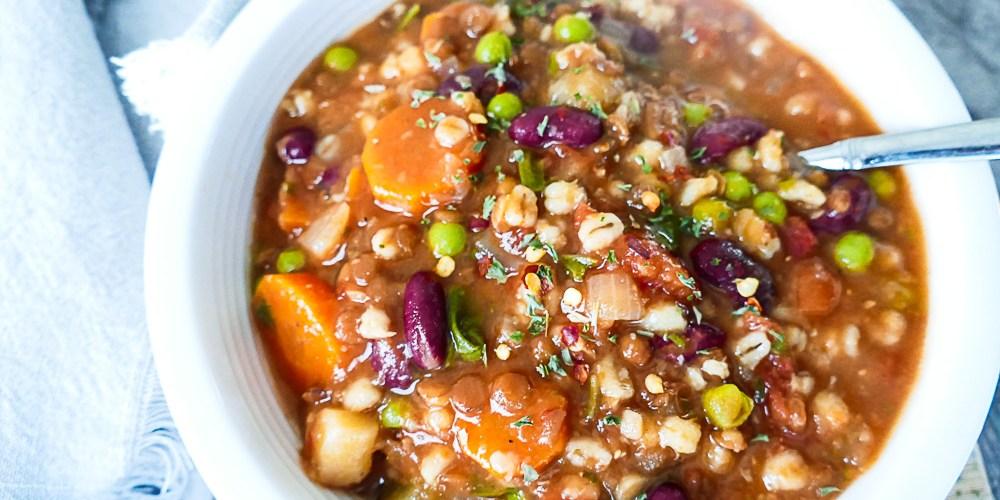 minestrone lentil barley soup