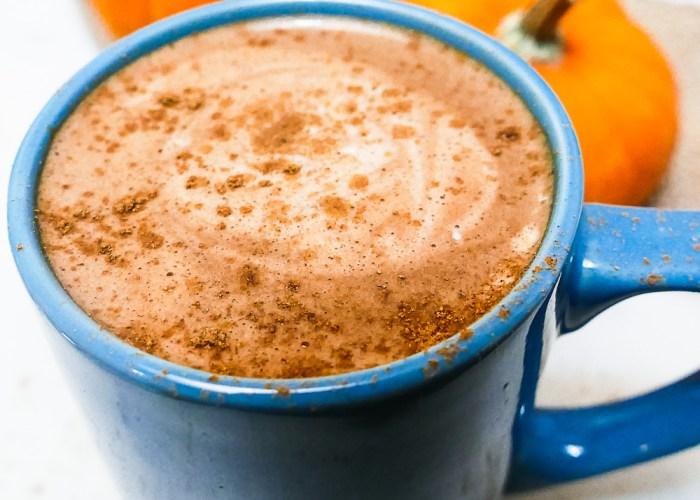 pumpkin spice hot chocolate in mug