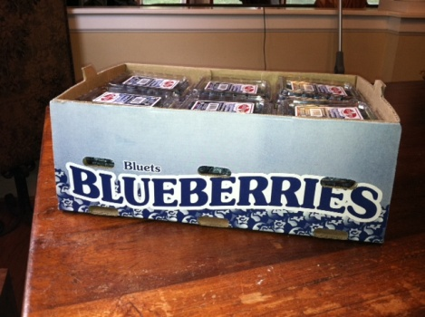 Organic blueberries from Whole Foods